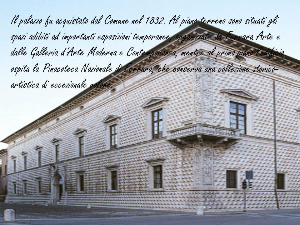 Il palazzo fu acquistato dal Comune nel 1832. Al piano terreno sono situati gli spazi adibiti ad importanti esposizioni temporanee, organizzate da Fer