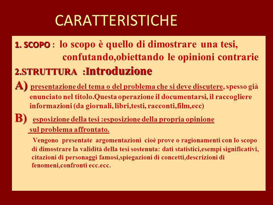1.SCOPO 2.STRUTTURA : I ntroduzione A) B) 1.