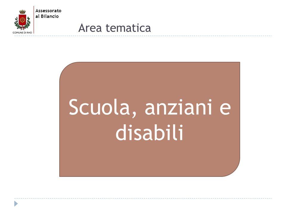 Assessorato al Bilancio Area tematica Scuola, anziani e disabili