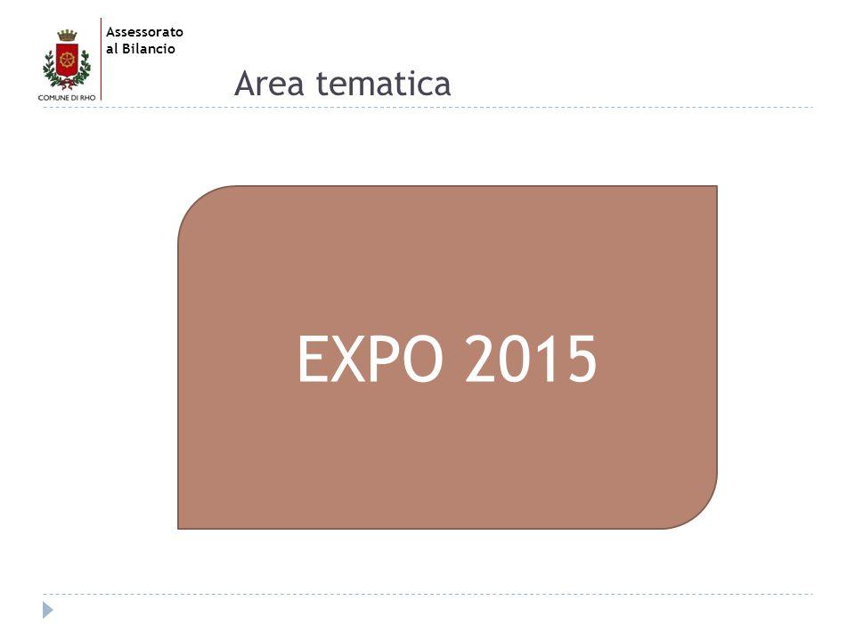 Assessorato al Bilancio Area tematica EXPO 2015