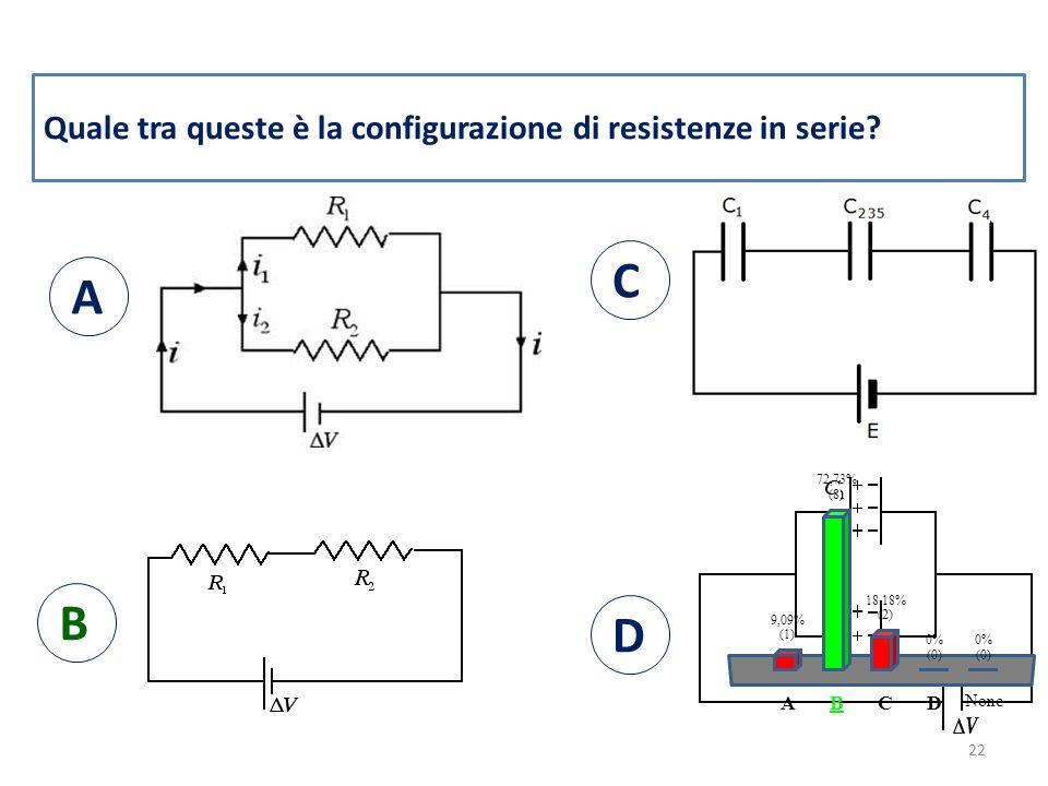 Quale tra queste è la configurazione di resistenze in serie.