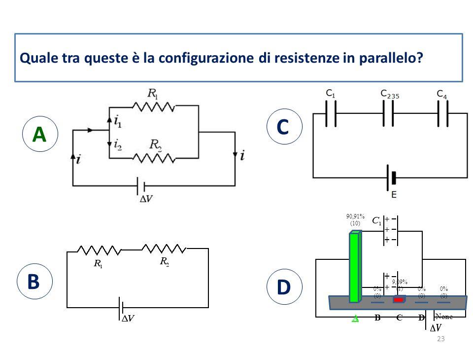 Quale tra queste è la configurazione di resistenze in parallelo.