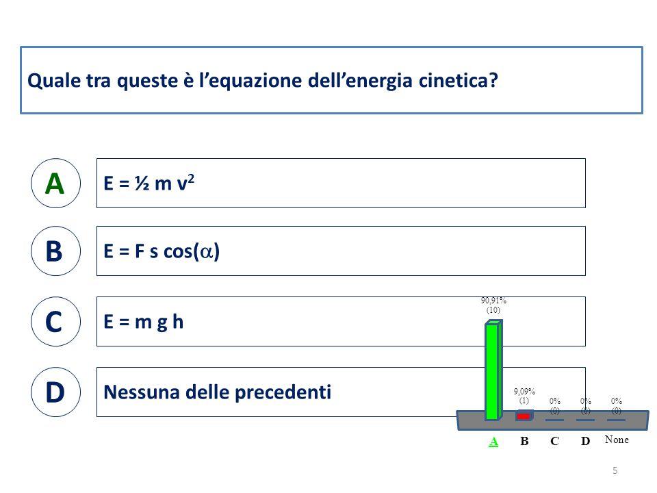 Quale tra queste è l'equazione dell'energia potenziale.