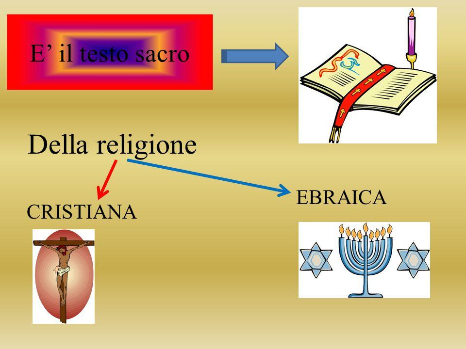 E' il testo sacro Della religione EBRAICA CRISTIANA