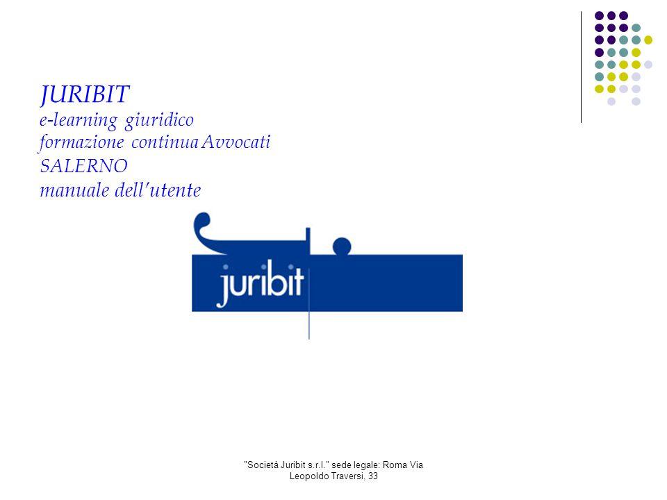 Società Juribit s.r.l. sede legale: Roma Via Leopoldo Traversi, 33 4.7.) Scheda corso 1.3.