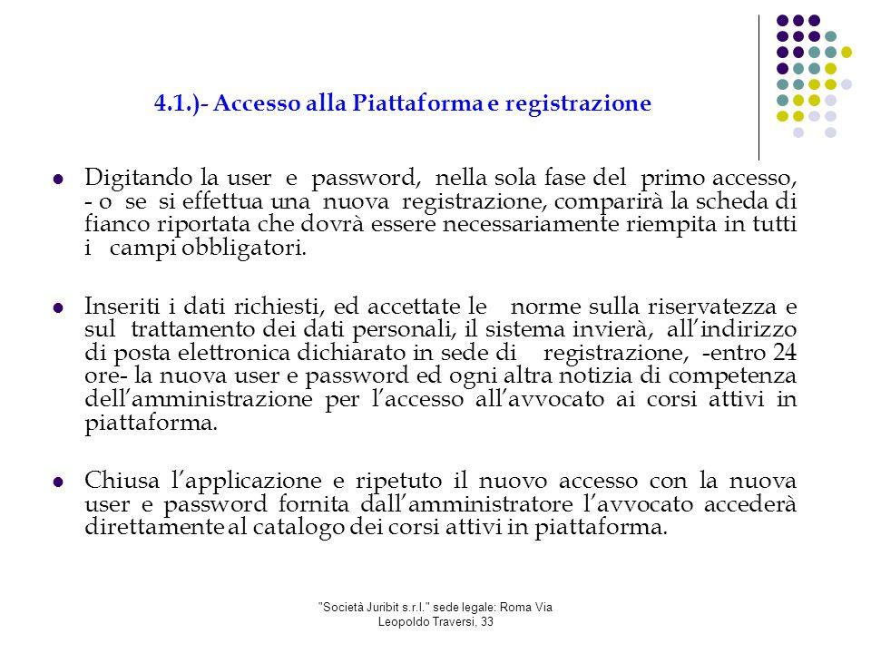 Società Juribit s.r.l. sede legale: Roma Via Leopoldo Traversi, 33 4.2.)- Recupero password utente registrato Il sistema consente tramite tale funzione il recupero sia della userid sia della password all'avvocato già registrato.