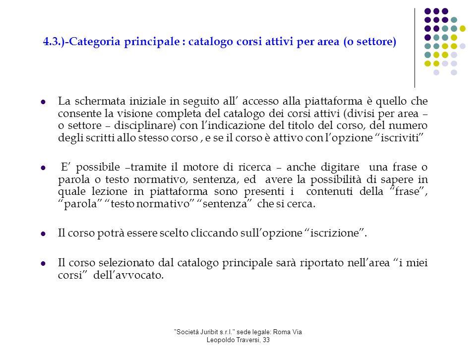 Società Juribit s.r.l. sede legale: Roma Via Leopoldo Traversi, 33 6.2.) Conclusione e superamento del Test finale.