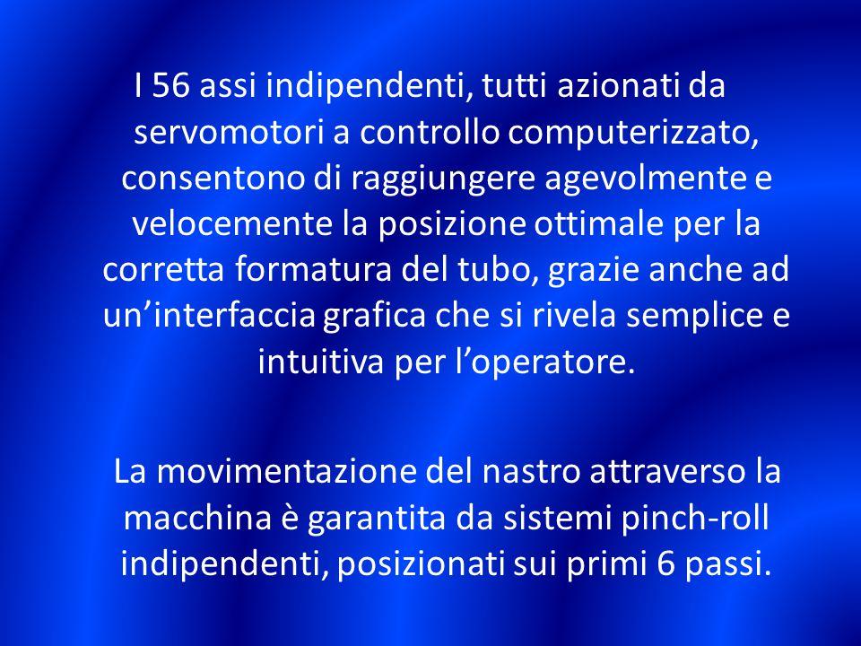 I 56 assi indipendenti, tutti azionati da servomotori a controllo computerizzato, consentono di raggiungere agevolmente e velocemente la posizione ott
