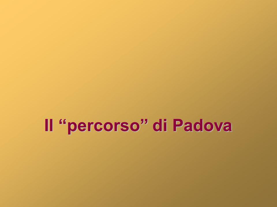"""Il """"percorso"""" di Padova"""