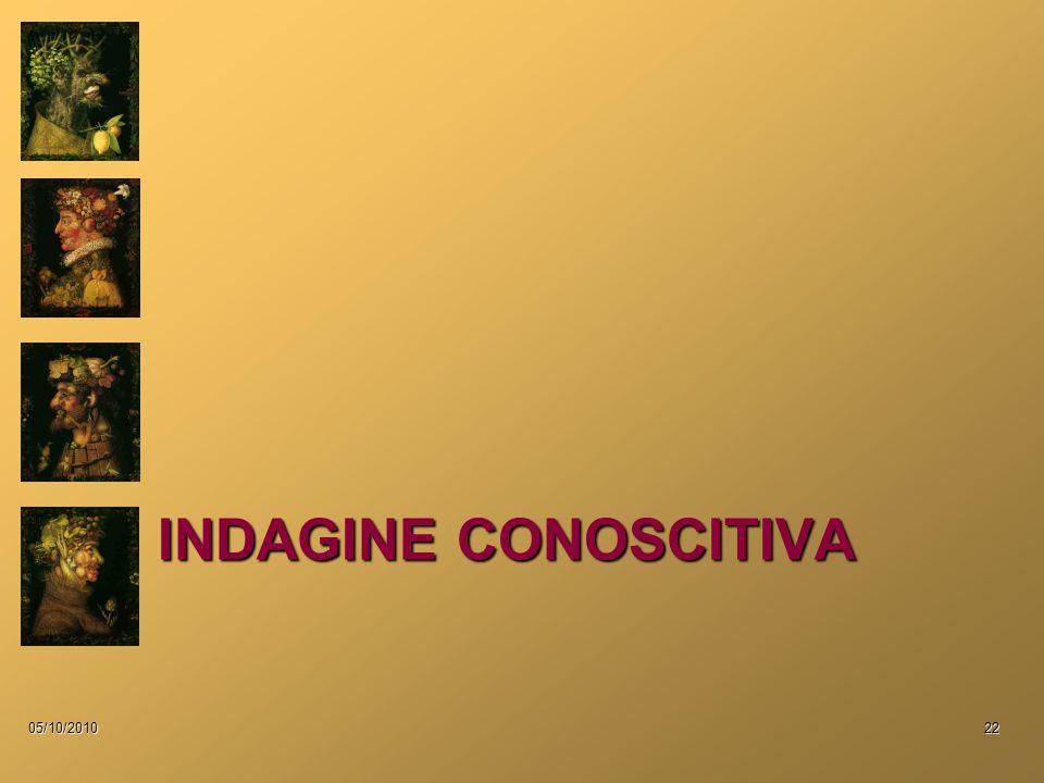 INDAGINE CONOSCITIVA 05/10/201022