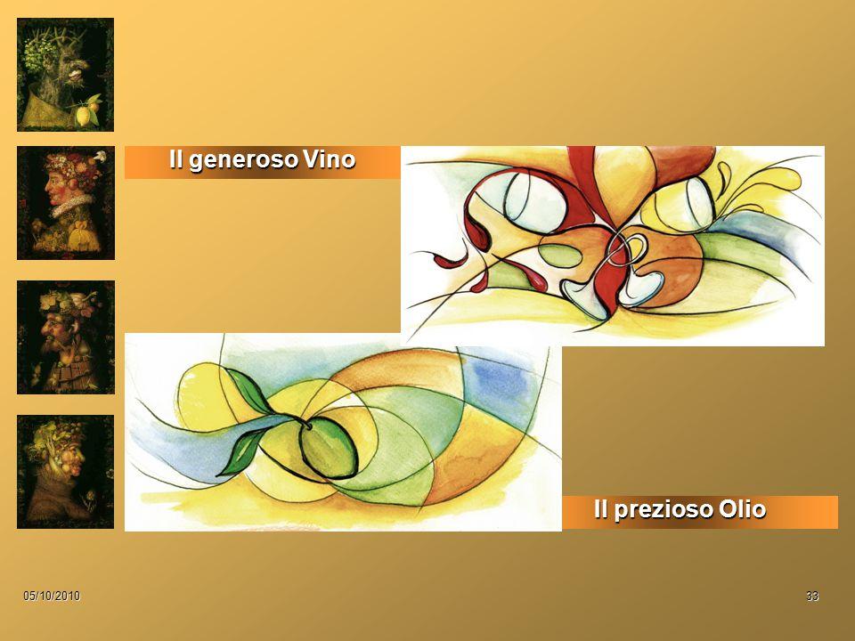 05/10/201033 Il prezioso Olio Il generoso Vino