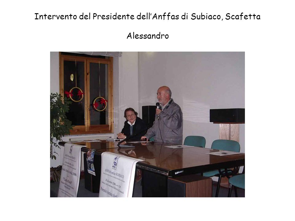 Intervento del dott. Diego Moriconi, Sindaco del Comune di Affile