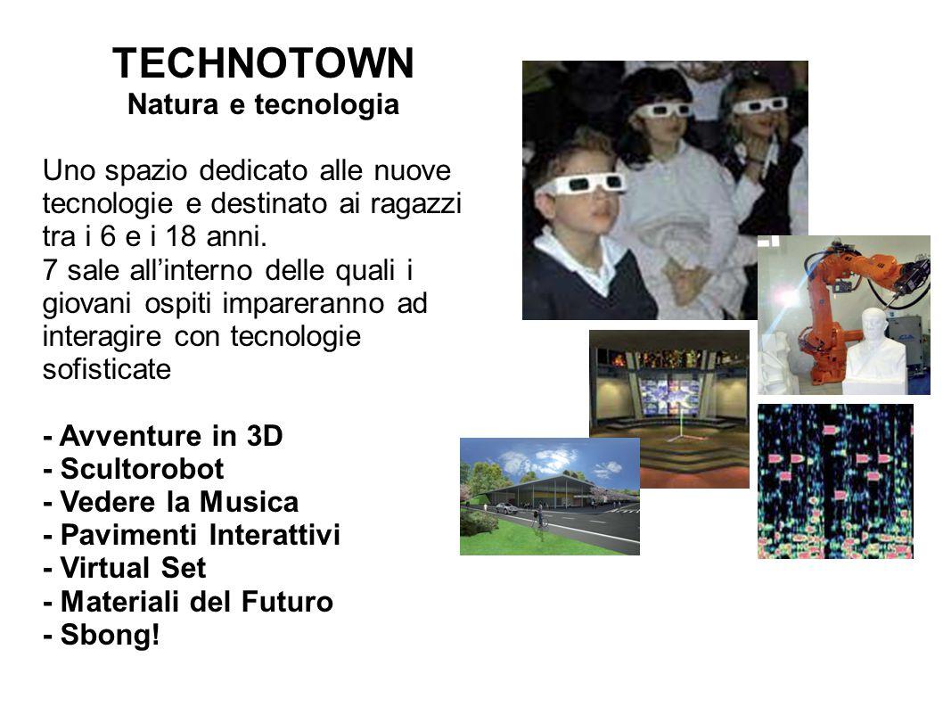 TECHNOTOWN Natura e tecnologia Uno spazio dedicato alle nuove tecnologie e destinato ai ragazzi tra i 6 e i 18 anni.