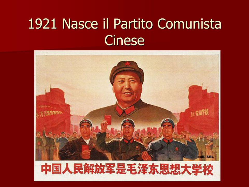 1921 Nasce il Partito Comunista Cinese