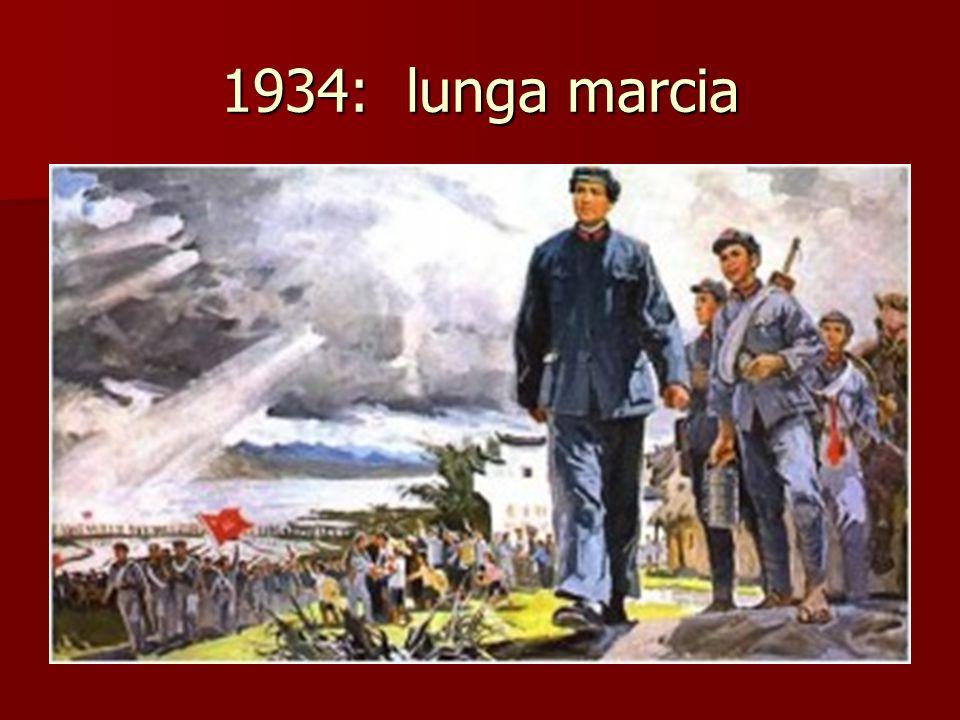 1937: conquista giapponese di Pechino Sospesa la guerra civile Comunisti e Kuomintang uniti fino alla fine della Seconda guerra mondiale