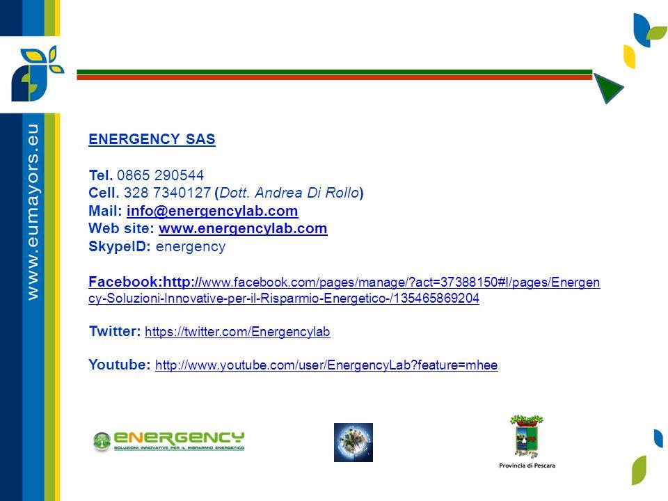 ENERGENCY SAS Tel. 0865 290544 Cell. 328 7340127 (Dott.