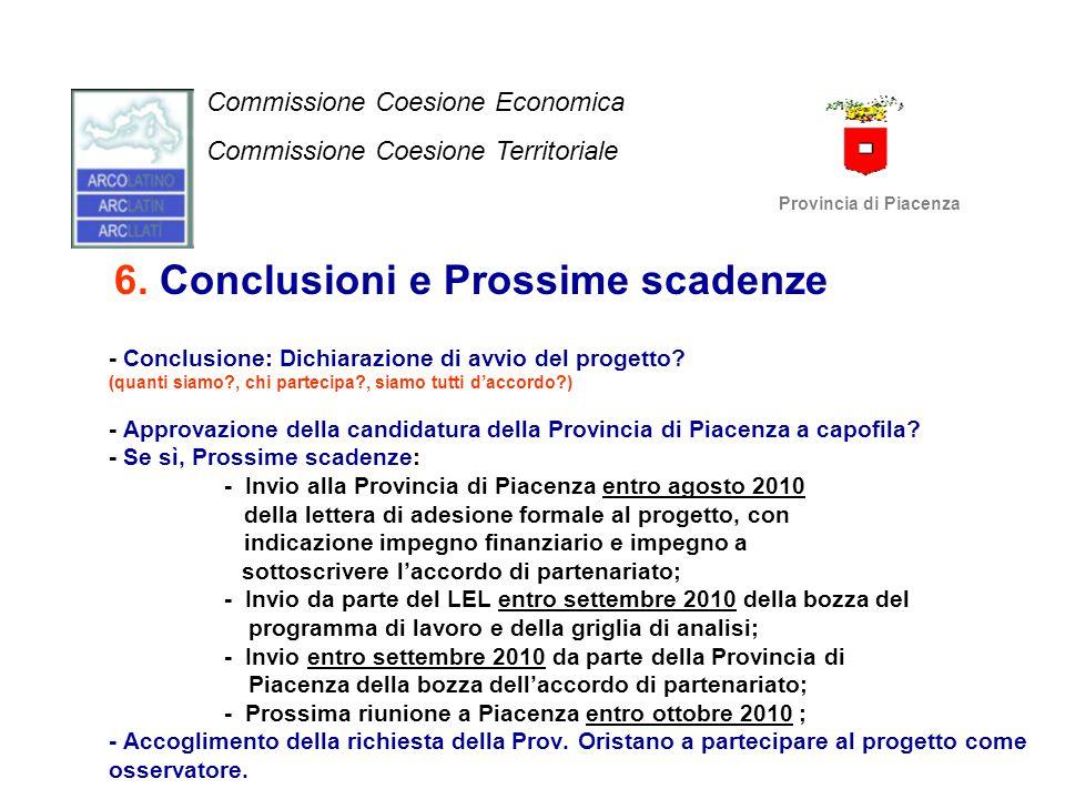 6. Conclusioni e Prossime scadenze - Conclusione: Dichiarazione di avvio del progetto? (quanti siamo?, chi partecipa?, siamo tutti d'accordo?) - Appro