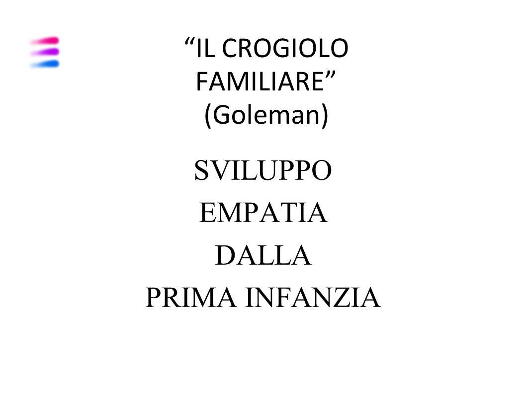 """""""IL CROGIOLO FAMILIARE"""" (Goleman) SVILUPPO EMPATIA DALLA PRIMA INFANZIA"""