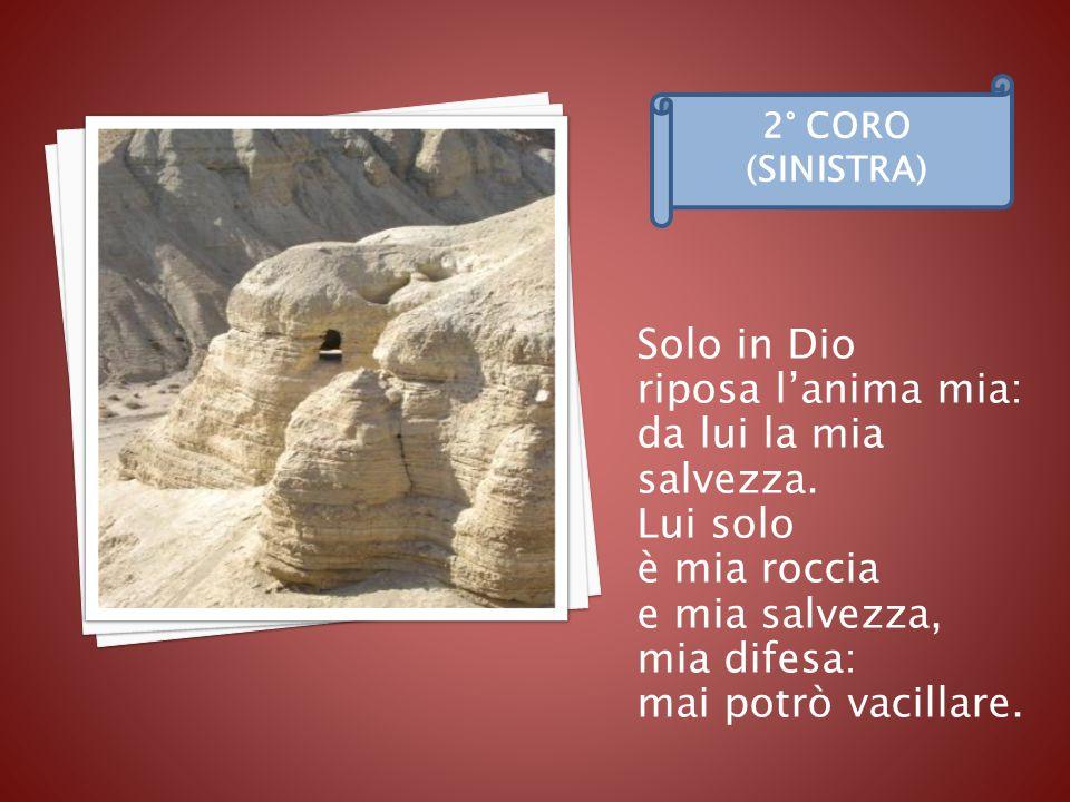 Lui solo è mia roccia e mia salvezza, mia difesa v. 7