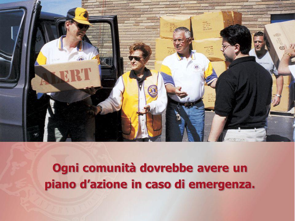 Ogni comunità dovrebbe avere un piano d'azione in caso di emergenza.