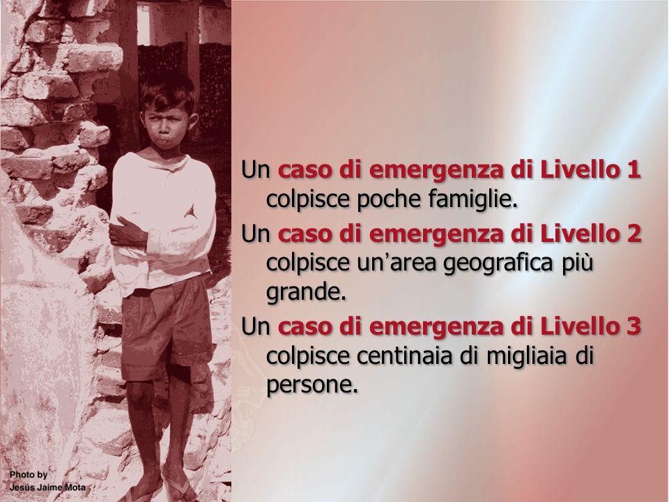 Un caso di emergenza di Livello 1 colpisce poche famiglie.