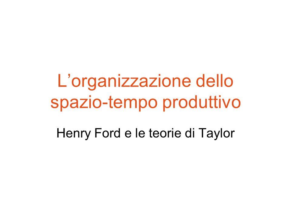 L'organizzazione dello spazio-tempo produttivo Henry Ford e le teorie di Taylor