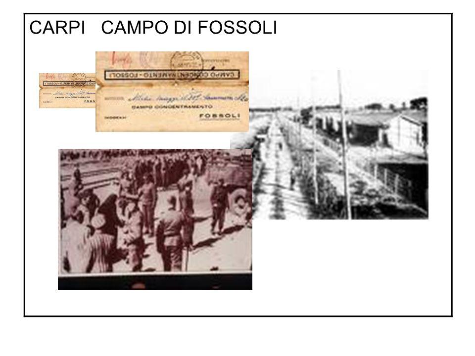CARPI CAMPO DI FOSSOLI