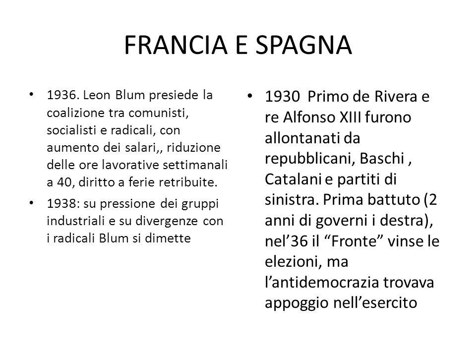 FRANCIA E SPAGNA 1936.