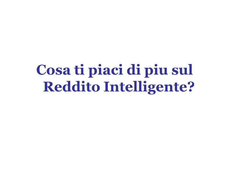 Cosa ti piaci di piu sul Reddito Intelligente?