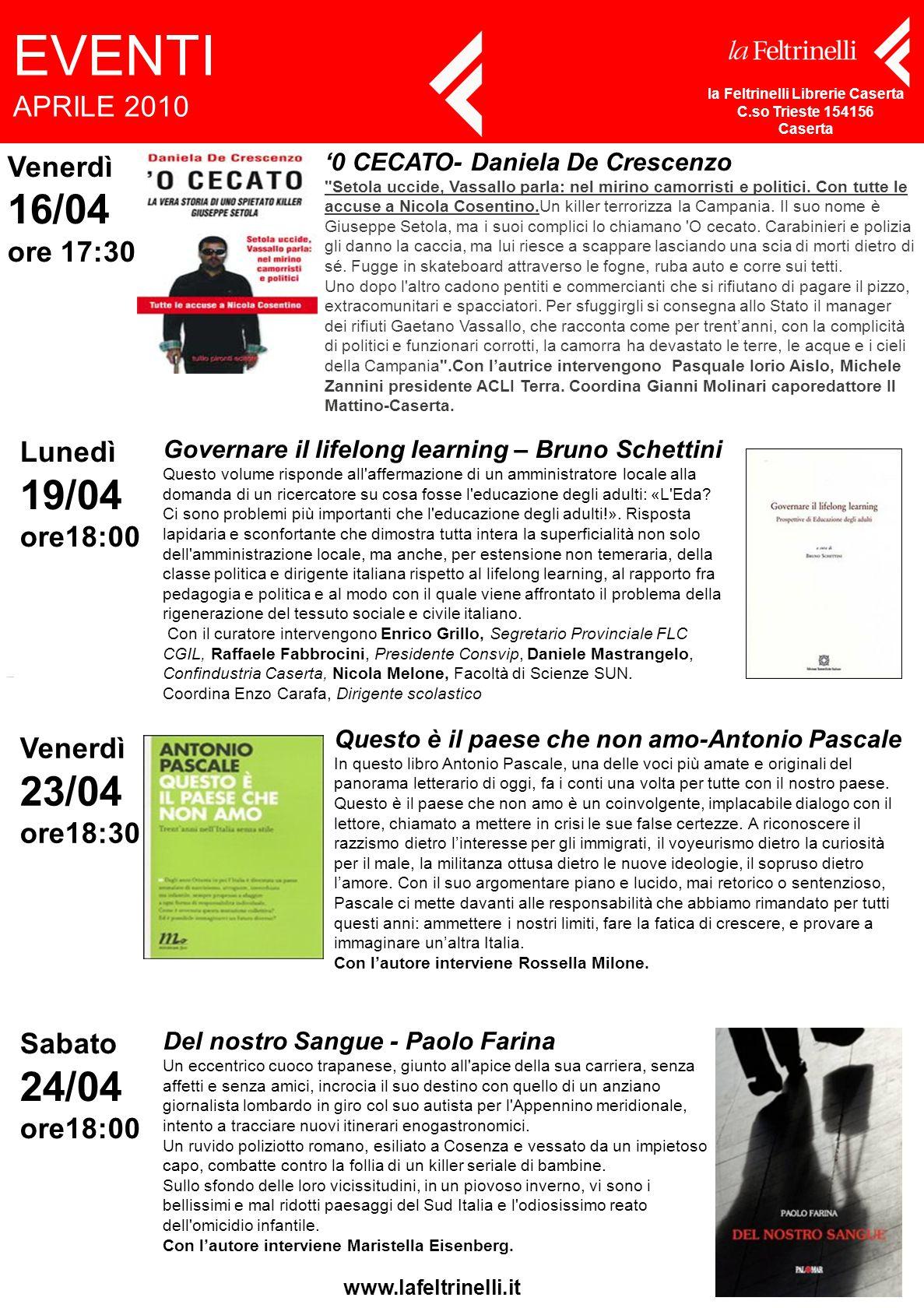 '0 CECATO- Daniela De Crescenzo Setola uccide, Vassallo parla: nel mirino camorristi e politici.