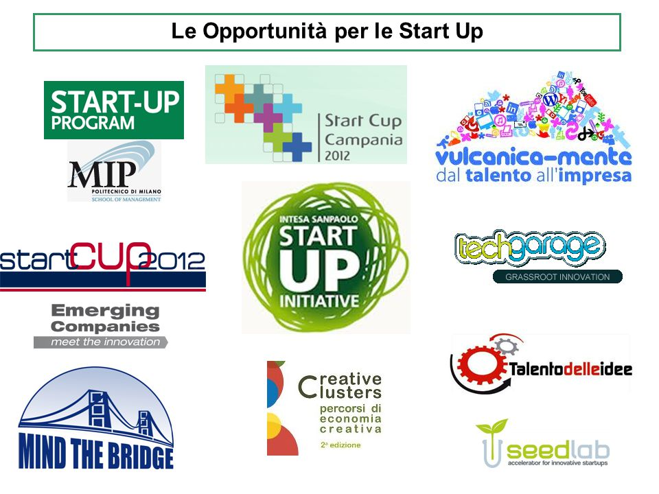 Le Opportunità per le Start Up