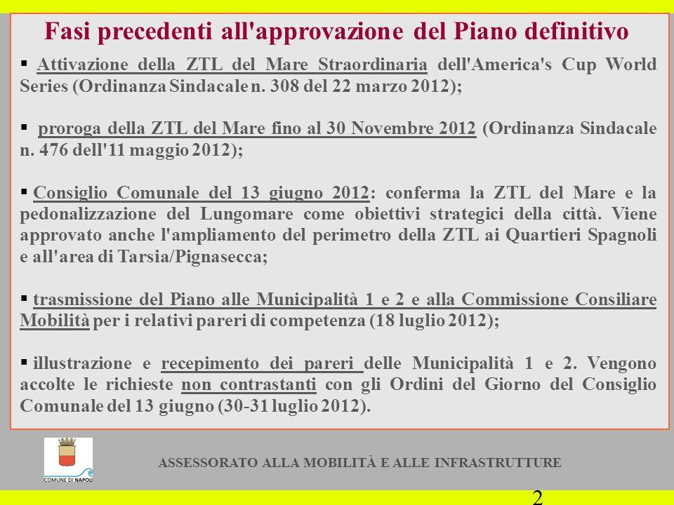 ASSESSORATO ALLA MOBILITÀ E ALLE INFRASTRUTTURE 13 Rilascio dei Contrassegni per l accesso A partire dal 3 dicembre 2012 saranno rilasciati agli aventi diritto i Contrassegni per l accesso alle nuove ZTL.