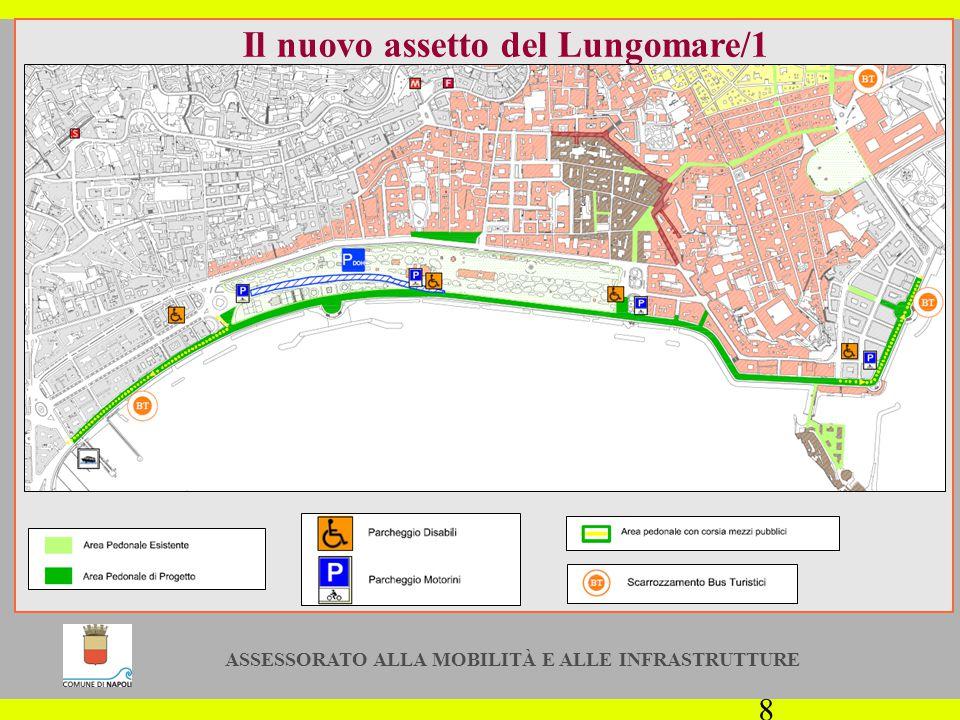 ASSESSORATO ALLA MOBILITÀ E ALLE INFRASTRUTTURE 8 Il nuovo assetto del Lungomare/1