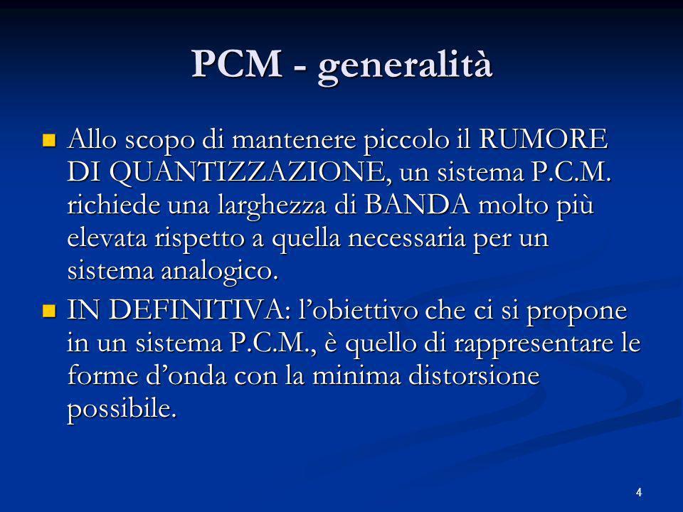 5 PCM - generalità N.B.