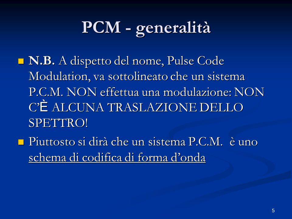 36 TDM-PCM Telephone System 24:1 1 2 24 4:1 MUXMUX T1 Segnali Vocali 64 kb/s Digital data 1,544 Mb/s 7:1 MUXMUX T2 DPCM Altri servizi telefonici 6,312 Mb/s 6:1 MUXMUX PCM Television 44,736 Mb/s T3 2:1 MUXMUX 274,176 Mb/s T4 T5 570,160 Mb/s Standard Americano