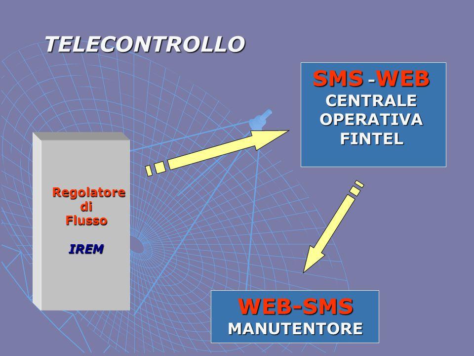 TELECONTROLLO Regolatore diFlussoIREM SMS - WEB CENTRALE OPERATIVA FINTEL WEB-SMS MANUTENTORE
