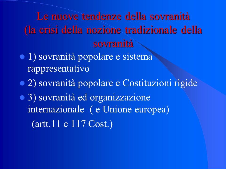 """Chi è il titolare ultimo della """"sovranità""""? 1) la sovranità della persona giuridica statale ( lo Stato persona giuridica; l'esempio dello Statuto Albe"""