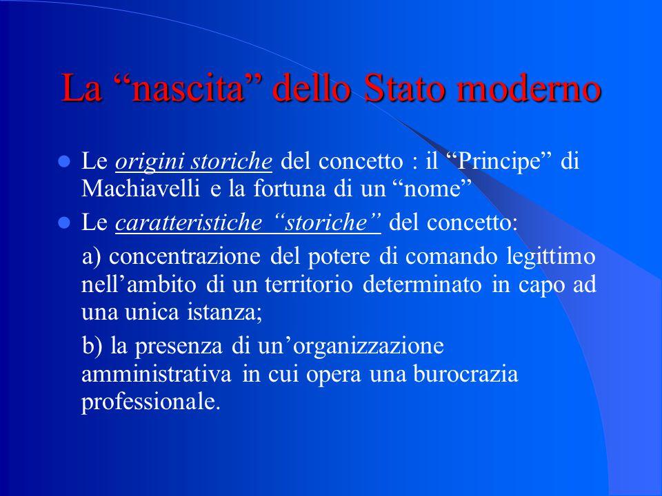 Una prima definizione empirica Stato = gruppo sociale indipendente, a base territoriale fissa, stabilmente ordinato attorno ad un centro di potere suo