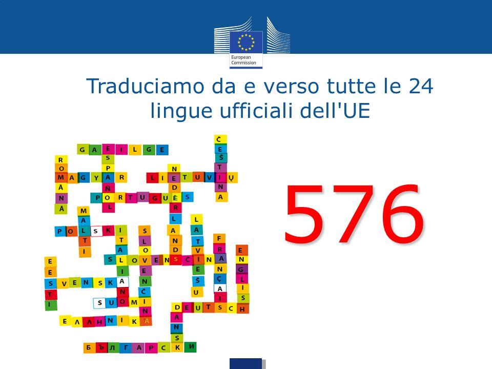 Traduciamo da e verso tutte le 24 lingue ufficiali dell'UE 576