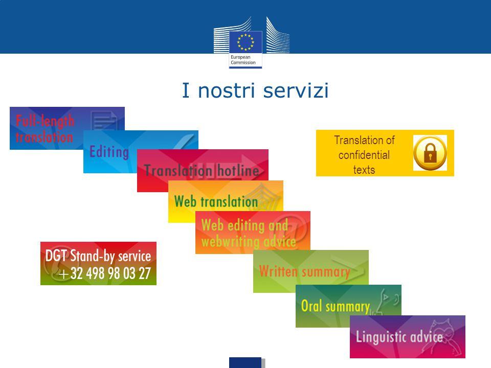 I nostri servizi Translation of confidential texts