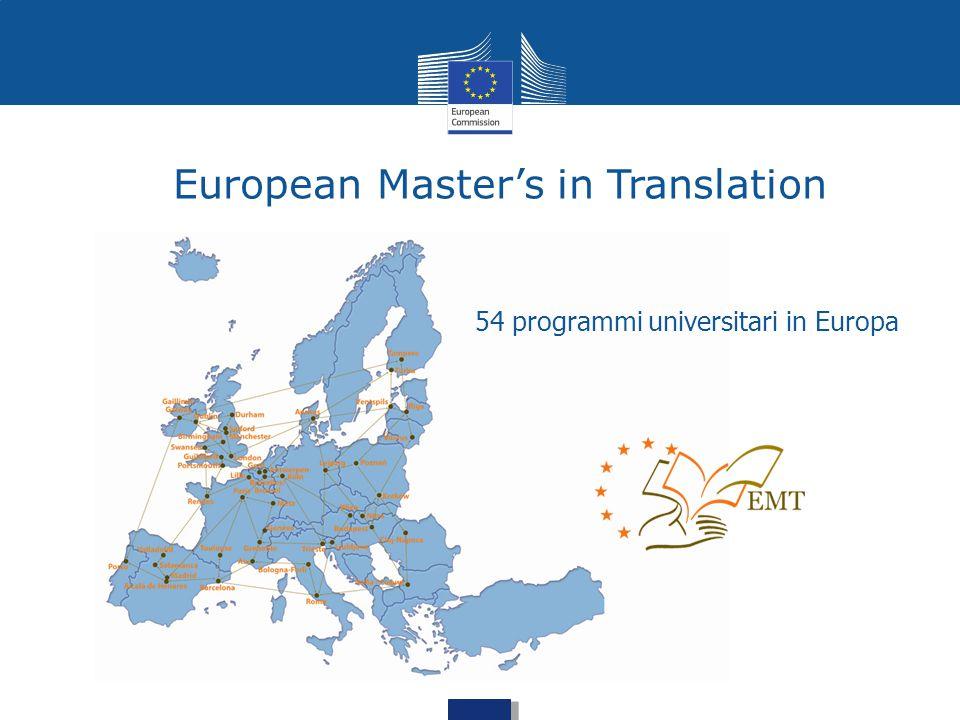 European Master's in Translation 54 programmi universitari in Europa