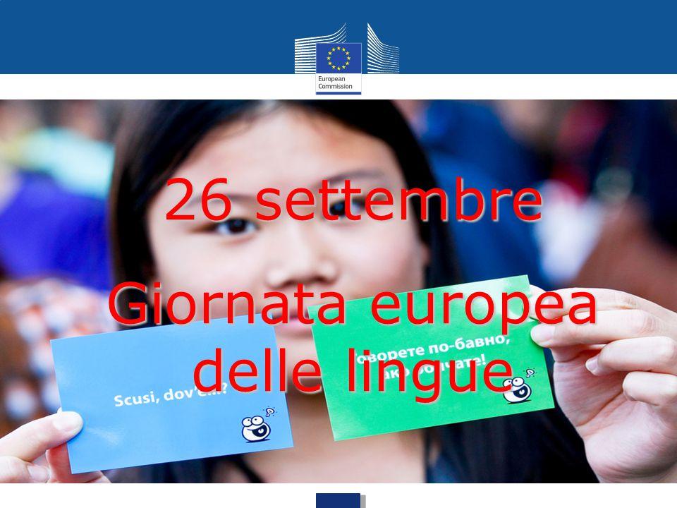 26 settembre Giornata europea delle lingue