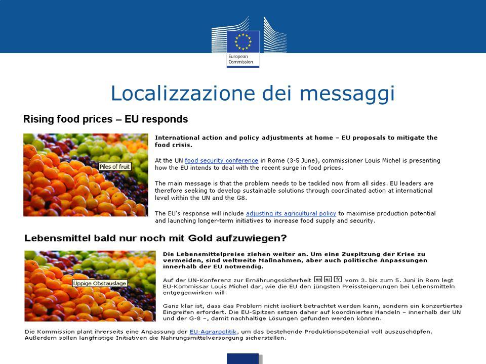 Localizzazione dei messaggi