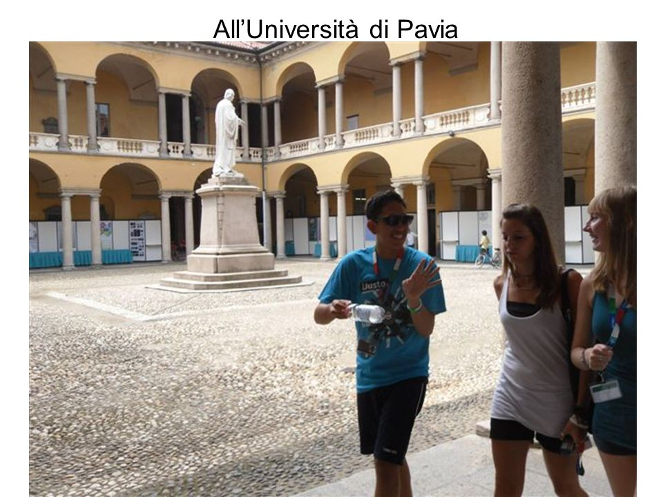 All'Università di Pavia
