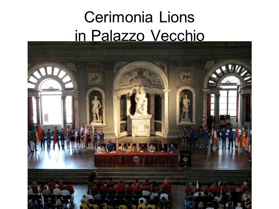 Cerimonia Lions in Palazzo Vecchio
