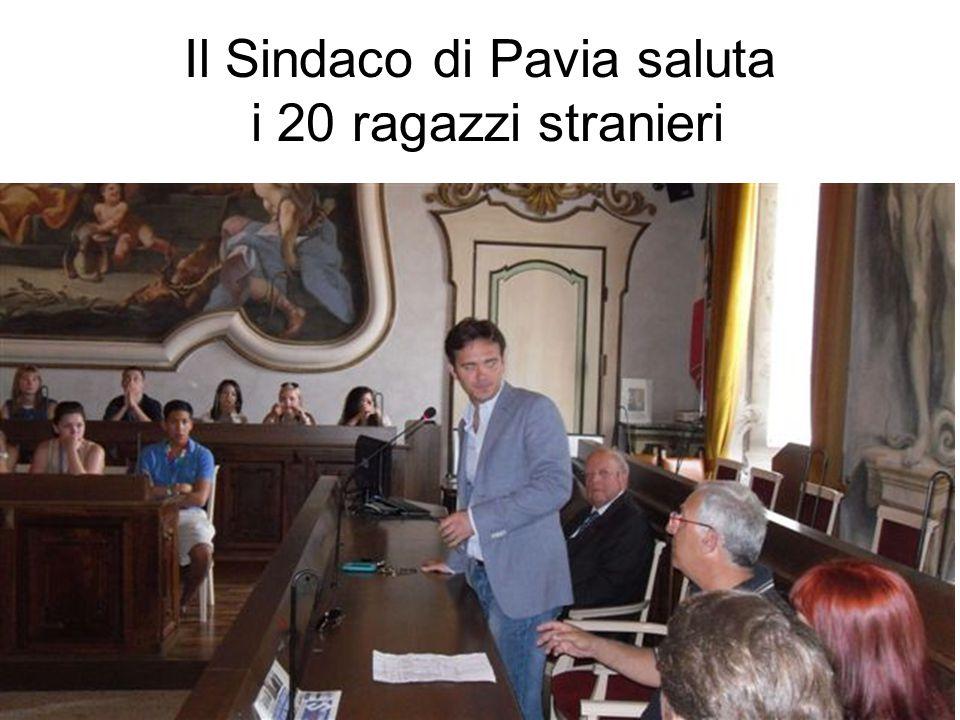 Il Sindaco di Pavia saluta i 20 ragazzi stranieri