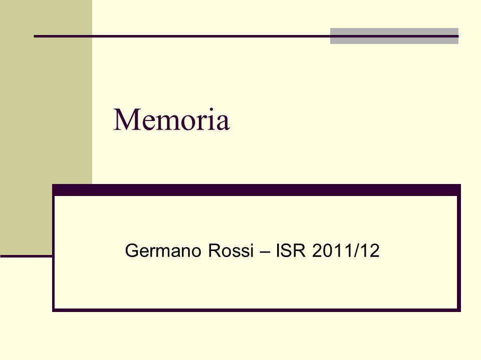 Memoria Germano Rossi – ISR 2011/12
