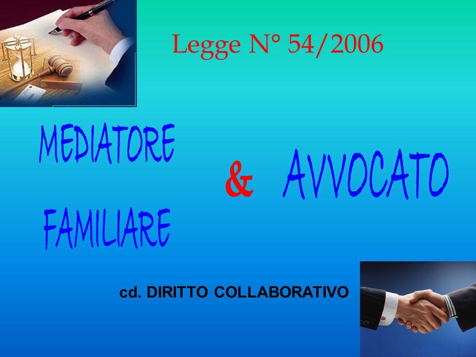 Legge N° 54/2006 cd. DIRITTO COLLABORATIVO