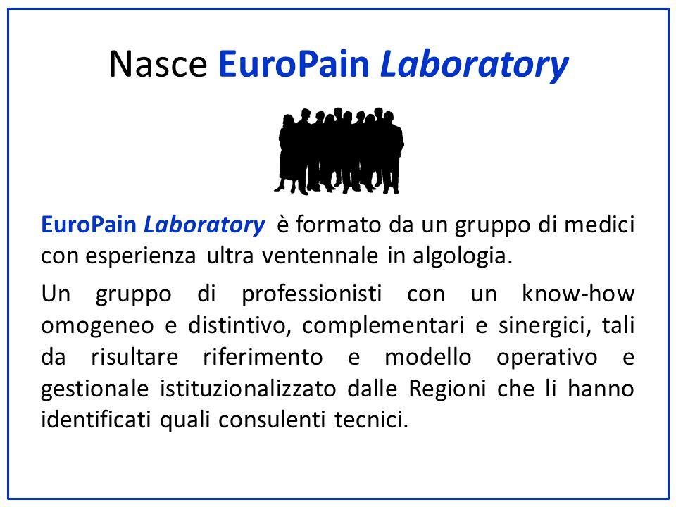 Nasce EuroPain Laboratory EuroPain Laboratory è formato da un gruppo di medici con esperienza ultra ventennale in algologia. Un gruppo di professionis