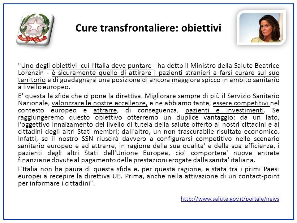 Cure transfrontaliere: obiettivi